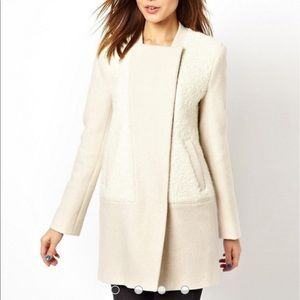French Connection Neat Weave Boucle Panel Coat 10